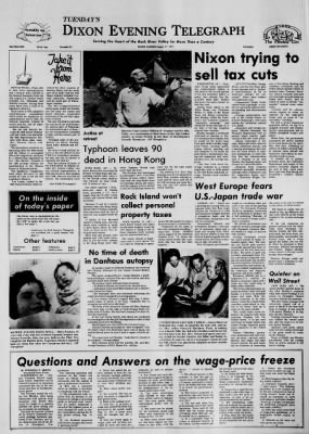Dixon Evening Telegraph from ,  on August 17, 1971 · Page 1