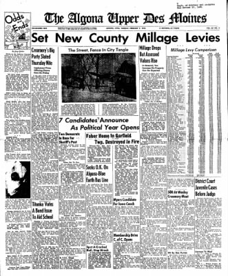 The Algona Upper Des Moines from Algona, Iowa on February 7, 1950 · Page 1