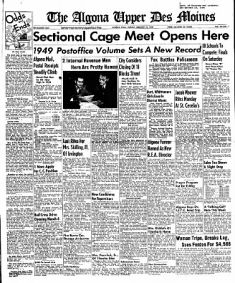 The Algona Upper Des Moines from Algona, Iowa on February 21, 1950 · Page 1