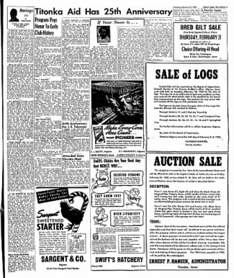 The Algona Upper Des Moines from Algona, Iowa on February 21, 1950 · Page 9