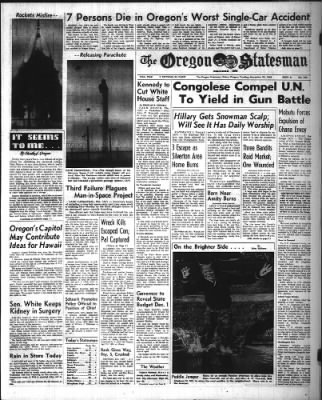 Statesman Journal from Salem, Oregon on November 22, 1960 · Page 1
