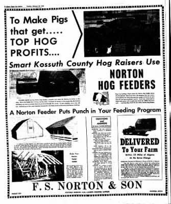The Algona Upper Des Moines from Algona, Iowa on February 28, 1950 · Page 10