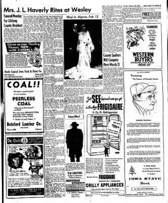 The Algona Upper Des Moines from Algona, Iowa on February 28, 1950 · Page 11