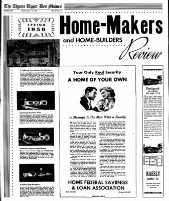 The Algona Upper Des Moines from Algona, Iowa on March 14, 1950 · Page 9