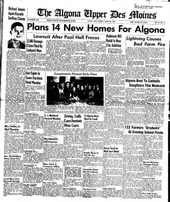 The Algona Upper Des Moines from Algona, Iowa on March 28, 1950 · Page 1