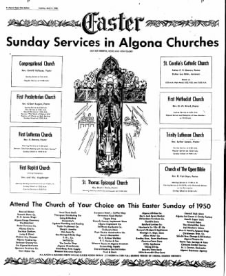 The Algona Upper Des Moines from Algona, Iowa on April 4, 1950 · Page 18