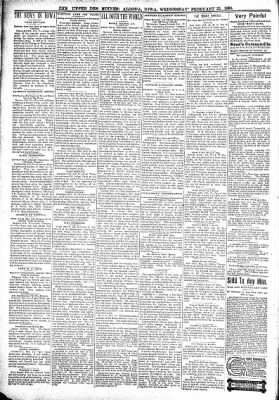 The Algona Upper Des Moines from Algona, Iowa on February 23, 1898 · Page 2