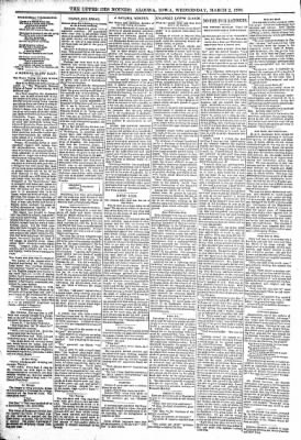 The Algona Upper Des Moines from Algona, Iowa on March 2, 1898 · Page 8