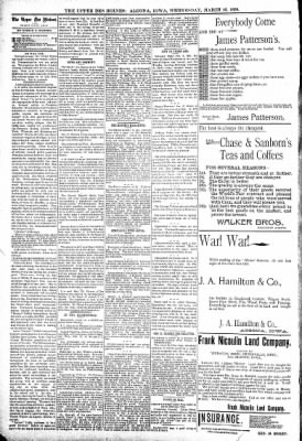 The Algona Upper Des Moines from Algona, Iowa on March 16, 1898 · Page 6