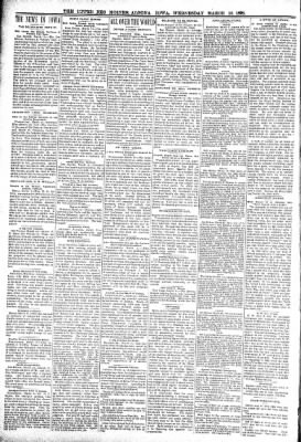 The Algona Upper Des Moines from Algona, Iowa on March 16, 1898 · Page 8