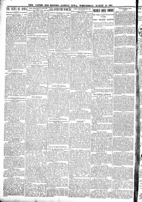 The Algona Upper Des Moines from Algona, Iowa on March 23, 1898 · Page 2