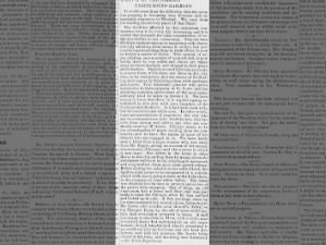 Underground Railroad growing stronger, according to pro-slavery newspaper, 1854