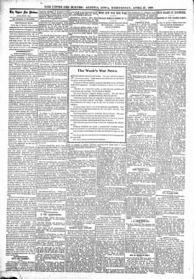The Algona Upper Des Moines from Algona, Iowa on April 27, 1898 · Page 4