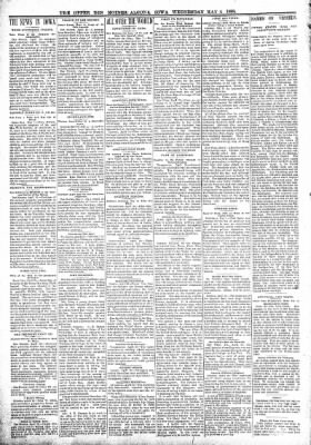 The Algona Upper Des Moines from Algona, Iowa on May 4, 1898 · Page 2