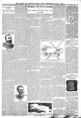 The Algona Upper Des Moines from Algona, Iowa on June 1, 1898 · Page 3