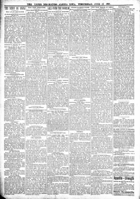 The Algona Upper Des Moines from Algona, Iowa on June 15, 1898 · Page 2