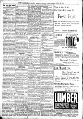 The Algona Upper Des Moines from Algona, Iowa on June 15, 1898 · Page 4