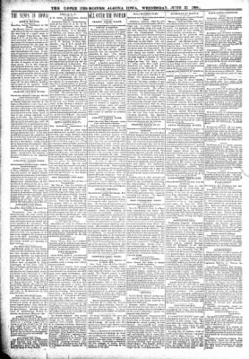 The Algona Upper Des Moines from Algona, Iowa on June 22, 1898 · Page 2