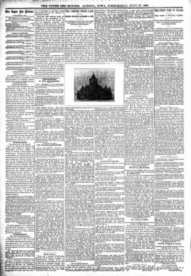The Algona Upper Des Moines from Algona, Iowa on July 27, 1898 · Page 4