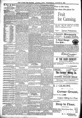 The Algona Upper Des Moines from Algona, Iowa on August 31, 1898 · Page 4