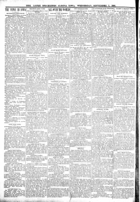 The Algona Upper Des Moines from Algona, Iowa on September 7, 1898 · Page 2