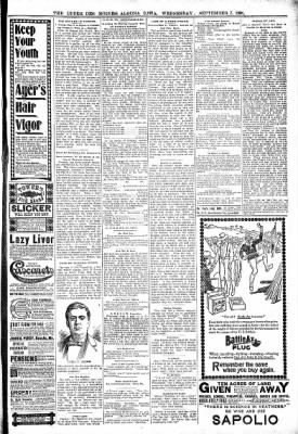 The Algona Upper Des Moines from Algona, Iowa on September 7, 1898 · Page 7
