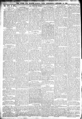 The Algona Upper Des Moines from Algona, Iowa on October 12, 1898 · Page 2