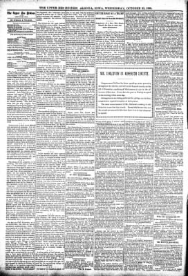 The Algona Upper Des Moines from Algona, Iowa on October 26, 1898 · Page 4