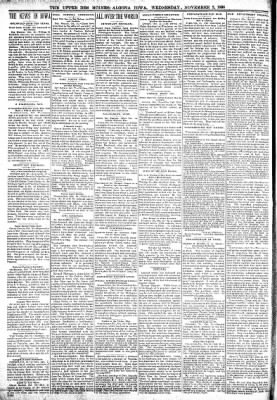 The Algona Upper Des Moines from Algona, Iowa on November 2, 1898 · Page 2