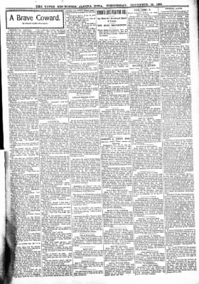 The Algona Upper Des Moines from Algona, Iowa on November 16, 1898 · Page 3