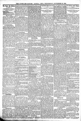 The Algona Upper Des Moines from Algona, Iowa on November 23, 1898 · Page 4