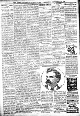 The Algona Upper Des Moines from Algona, Iowa on November 30, 1898 · Page 6