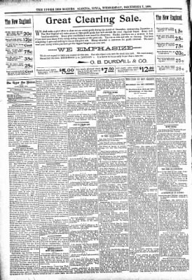The Algona Upper Des Moines from Algona, Iowa on December 7, 1898 · Page 4