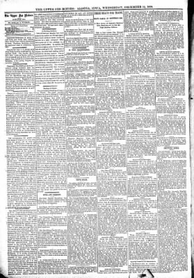 The Algona Upper Des Moines from Algona, Iowa on December 14, 1898 · Page 6