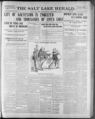The Salt Lake Herald from Salt Lake City, Utah on September 10, 1900 · Page 1
