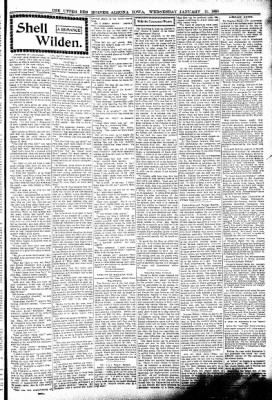 The Algona Upper Des Moines from Algona, Iowa on January 11, 1899 · Page 3