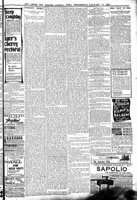 The Algona Upper Des Moines from Algona, Iowa on January 11, 1899 · Page 7