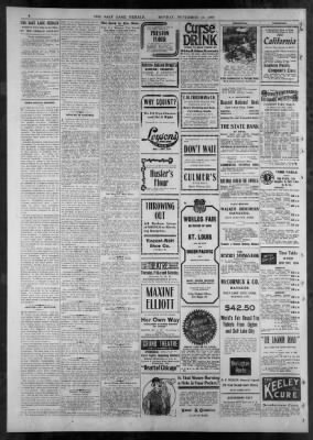 the salt lake herald from salt lake city utah on november 14 1904 rh newspapers com