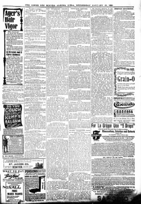 The Algona Upper Des Moines from Algona, Iowa on January 25, 1899 · Page 7