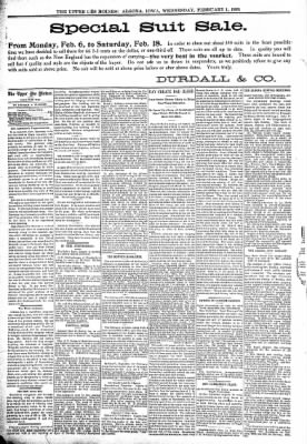 The Algona Upper Des Moines from Algona, Iowa on February 1, 1899 · Page 4