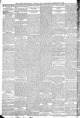 The Algona Upper Des Moines from Algona, Iowa on February 8, 1899 · Page 6