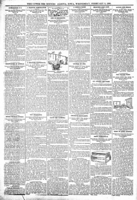 The Algona Upper Des Moines from Algona, Iowa on February 8, 1899 · Page 8