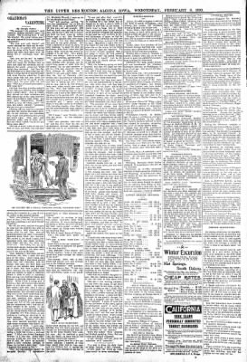The Algona Upper Des Moines from Algona, Iowa on February 8, 1899 · Page 10