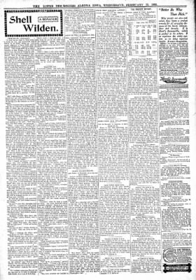 The Algona Upper Des Moines from Algona, Iowa on February 15, 1899 · Page 3