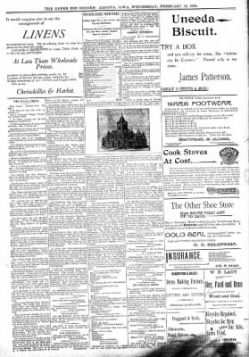 The Algona Upper Des Moines from Algona, Iowa on February 22, 1899 · Page 5