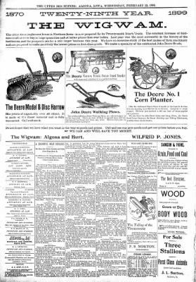 The Algona Upper Des Moines from Algona, Iowa on February 22, 1899 · Page 8