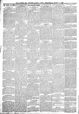 The Algona Upper Des Moines from Algona, Iowa on March 1, 1899 · Page 2