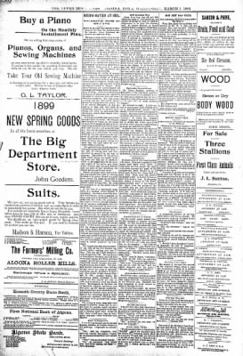 The Algona Upper Des Moines from Algona, Iowa on March 1, 1899 · Page 8