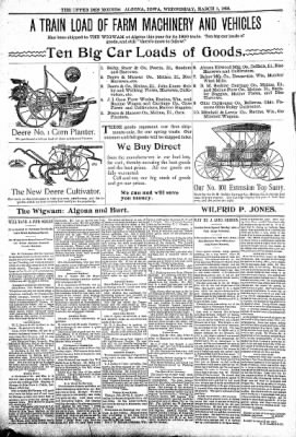 The Algona Upper Des Moines from Algona, Iowa on March 1, 1899 · Page 12