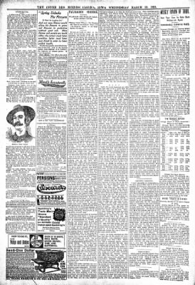 The Algona Upper Des Moines from Algona, Iowa on March 22, 1899 · Page 6